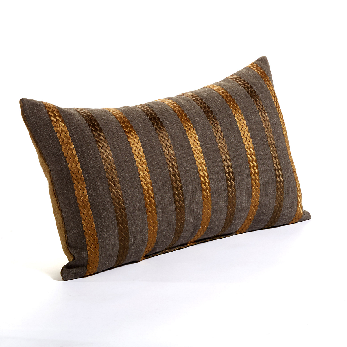 Metallic Stripe Lumbar Pillow