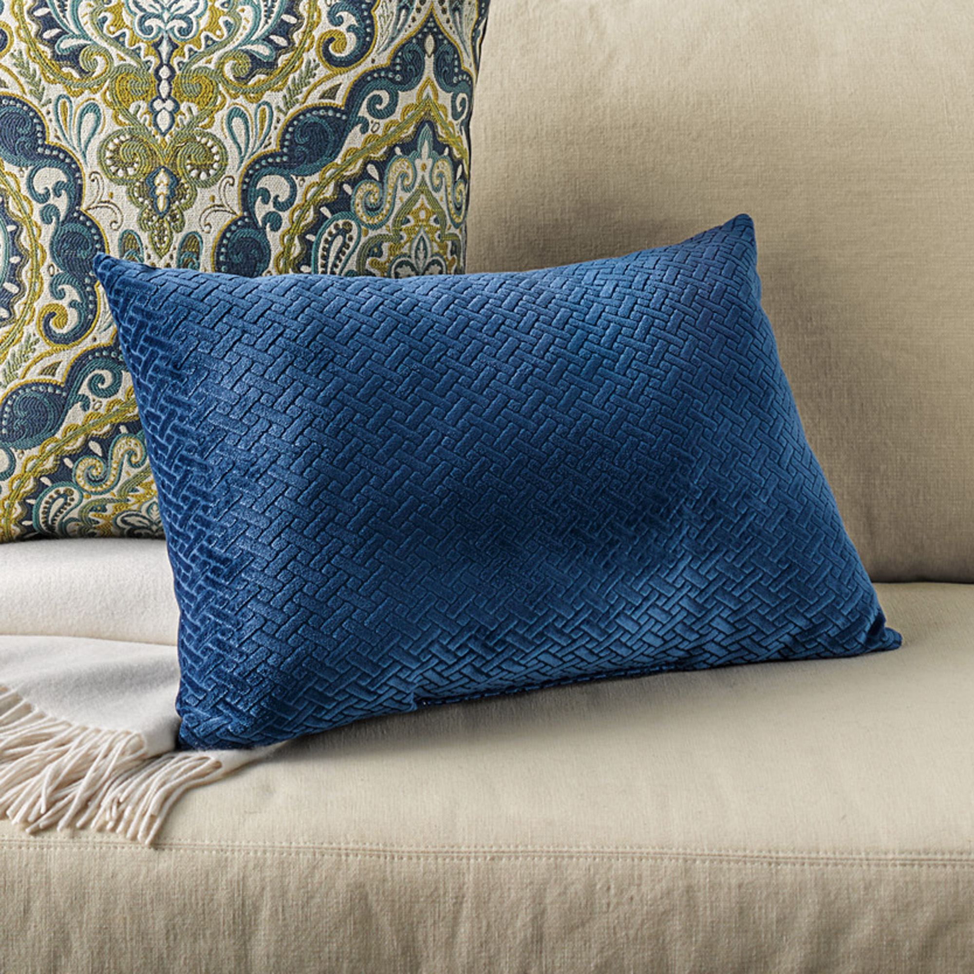 Throw Pillows Home : Chevron Lumbar Pillow Gump s