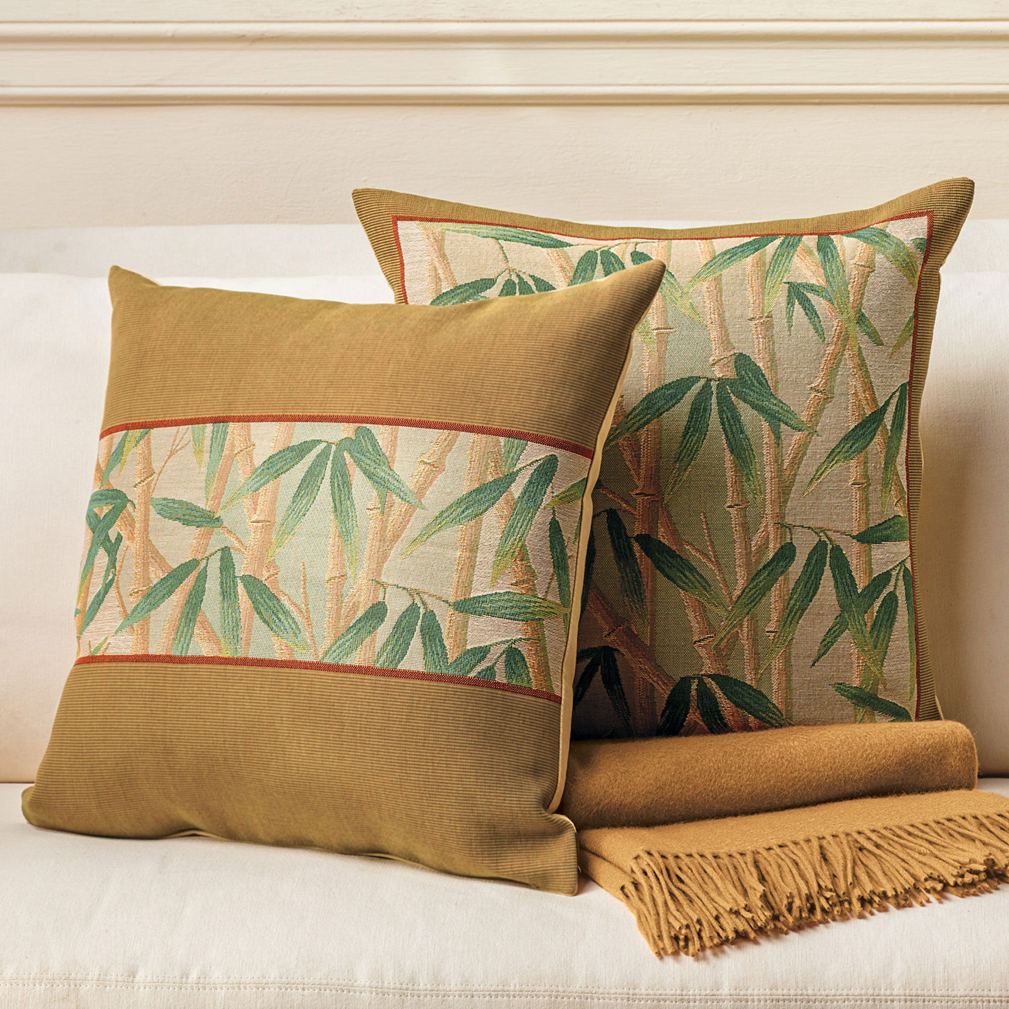 Throw Pillows Home : Bamboo Forest Pillows Gump s