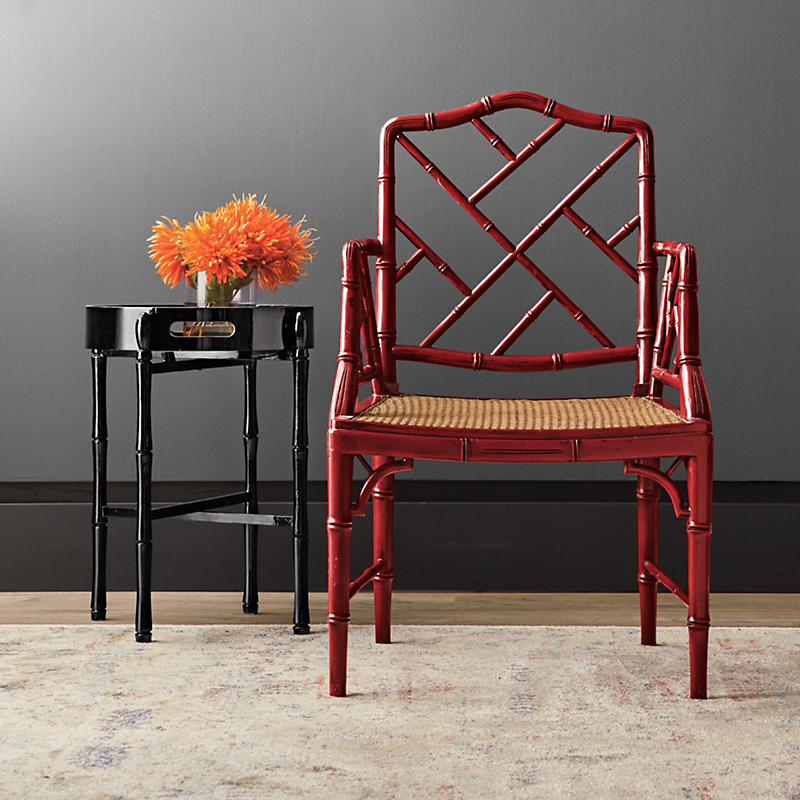 Red Grayson Armchair & Cushion