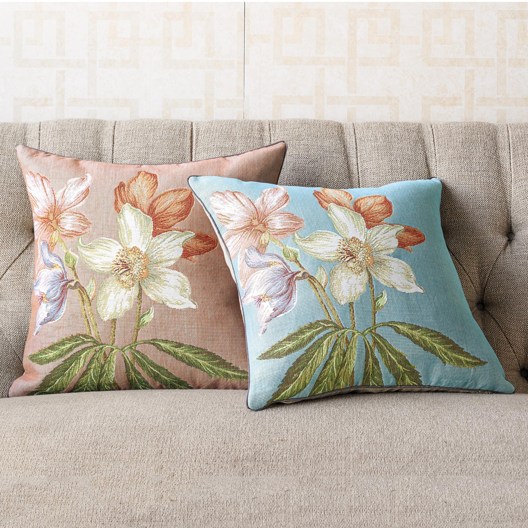 Throw Pillows Home : Lenten Rose Pillow Gump s