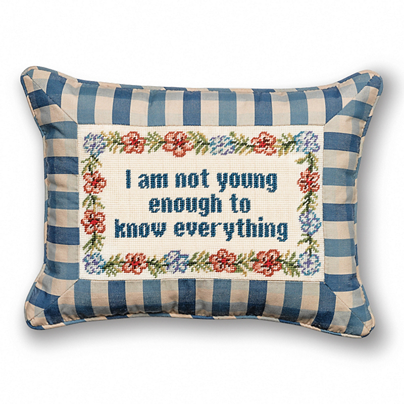 Wilde Wisdom Needlepoint Pillow