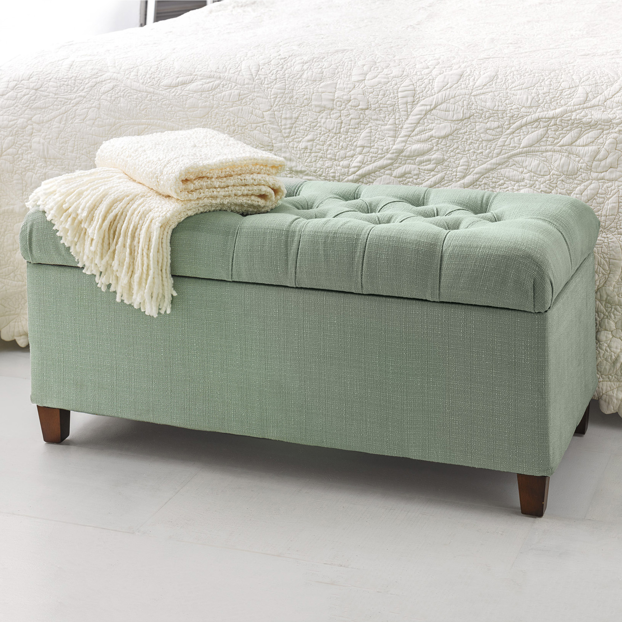 Harlow Storage Bench, Blue