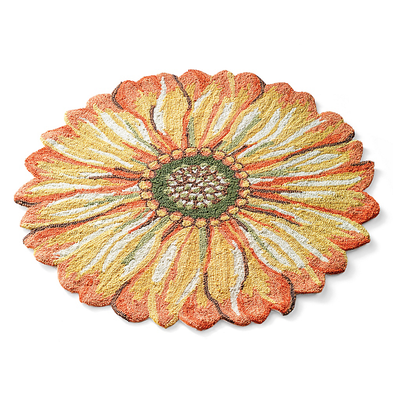 Sunflower Round Indoor / Outdoor Rug
