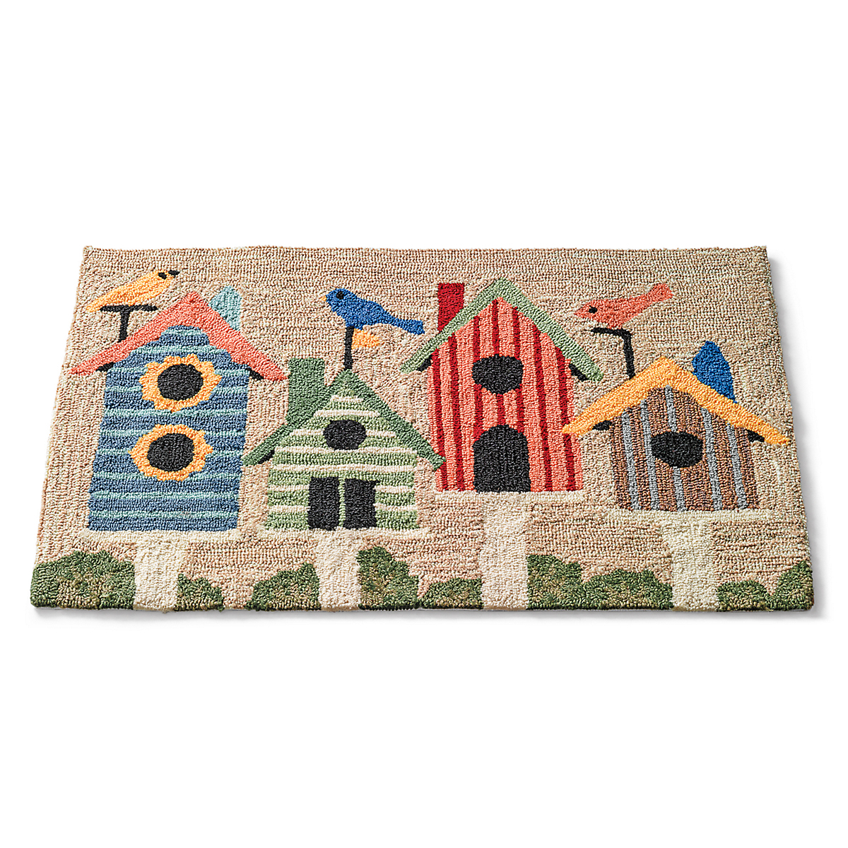 Bird Houses Accent Rug