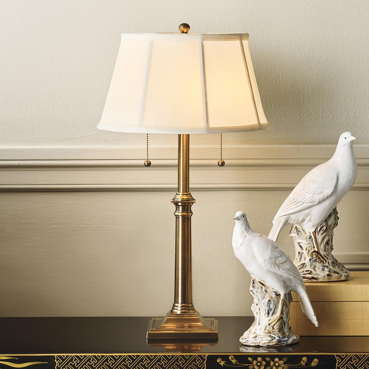 Brass hanover table lamp