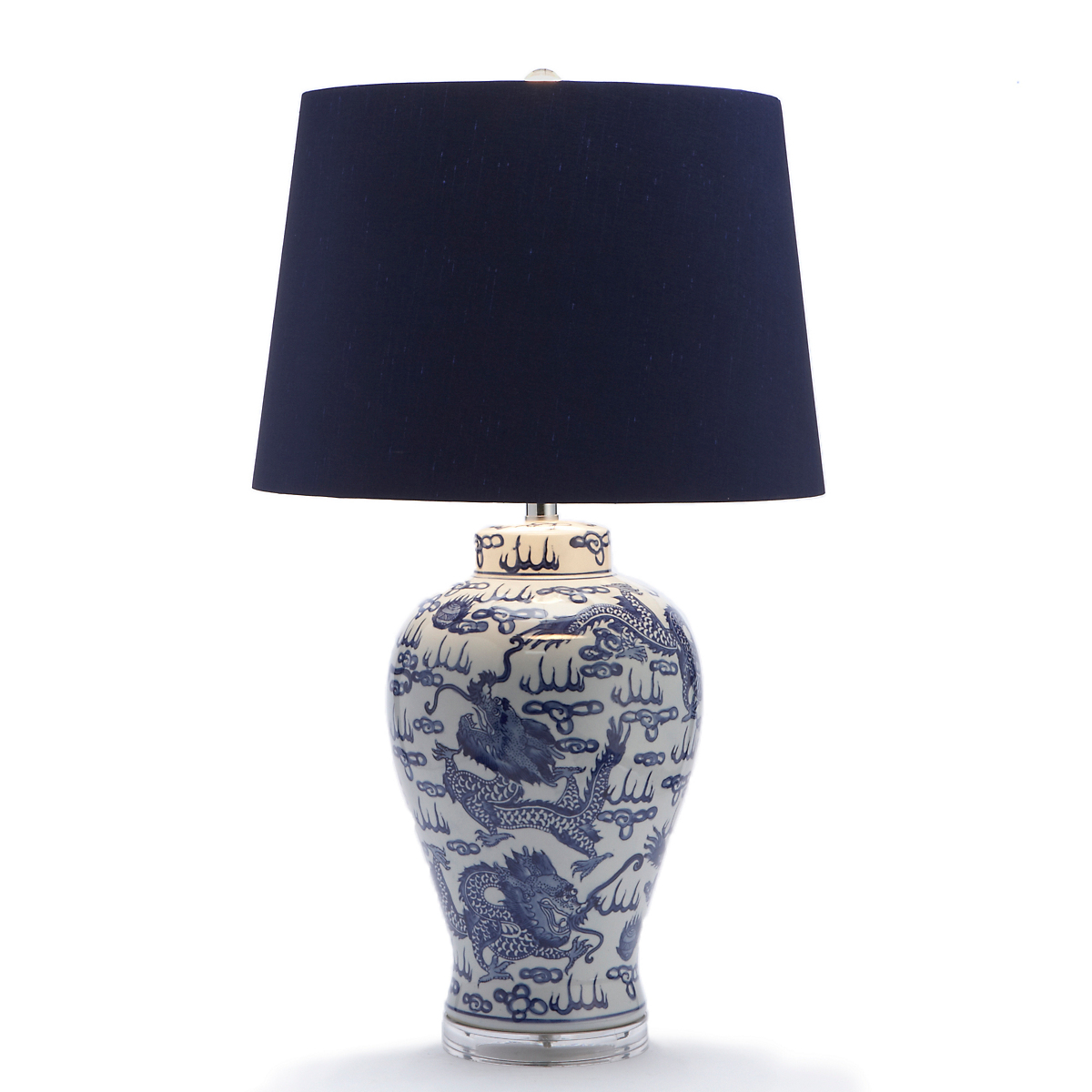Blue & White Dragon Lamp
