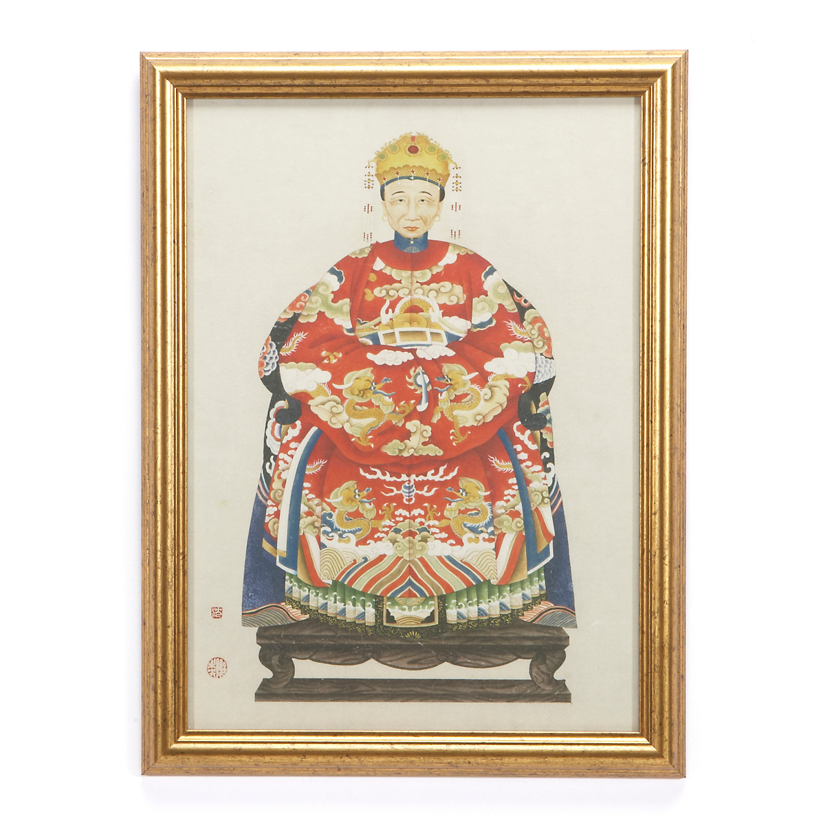 Qing Dynasty Royalty Print, Empress
