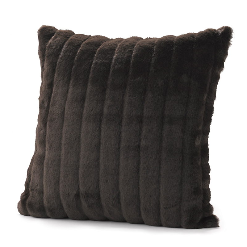 Brown Beaver Faux Fur Pillow