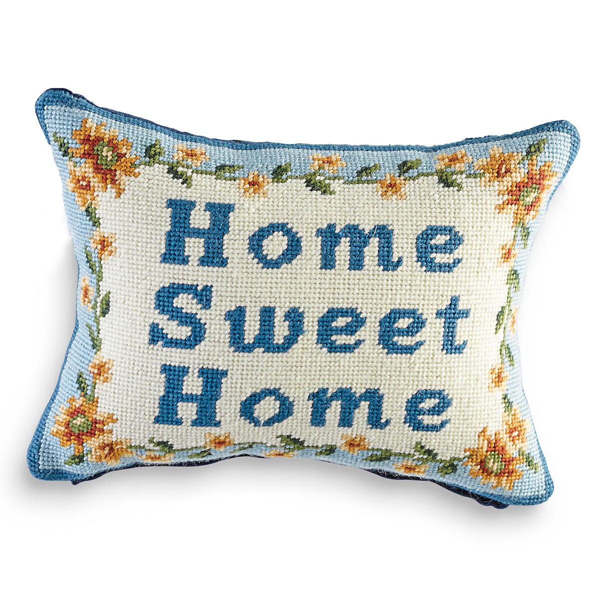 Home Sweet Home Needlepoint Pillow | Gump's