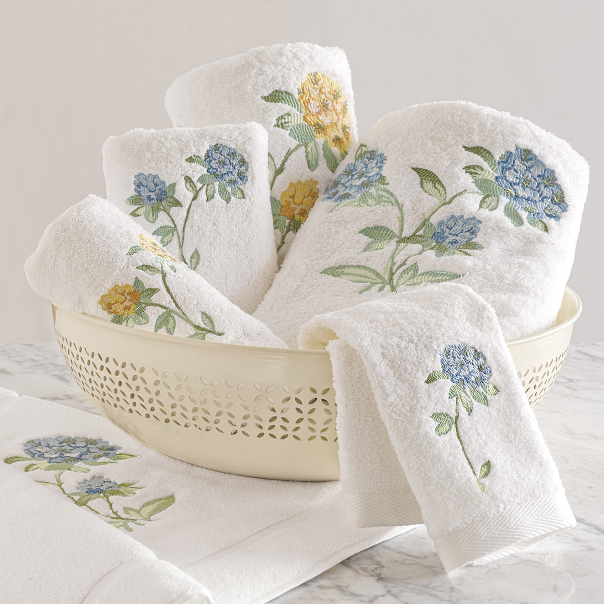 Woodside Floral Embroidered Towels