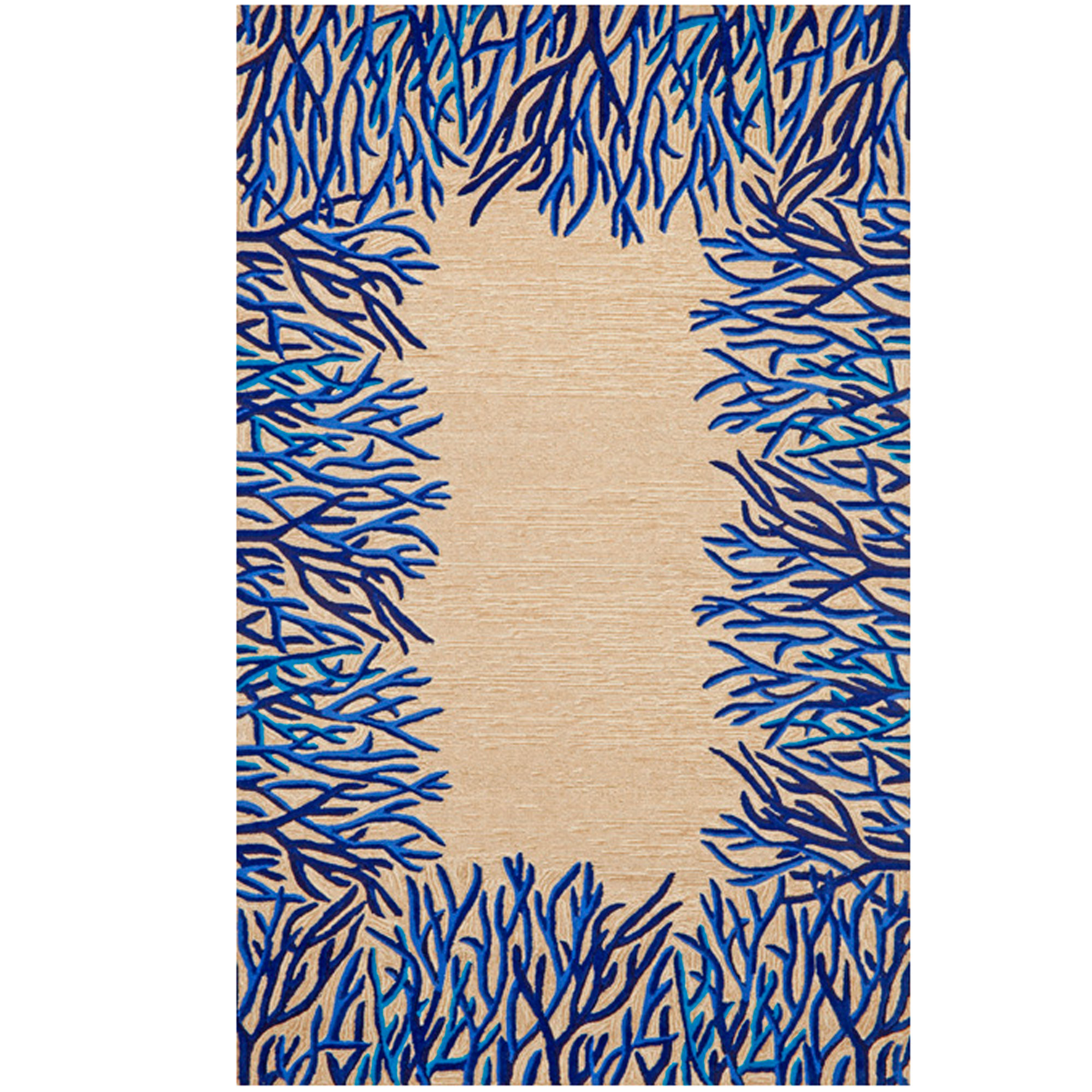 Coral Border Indoor / Outdoor Rug