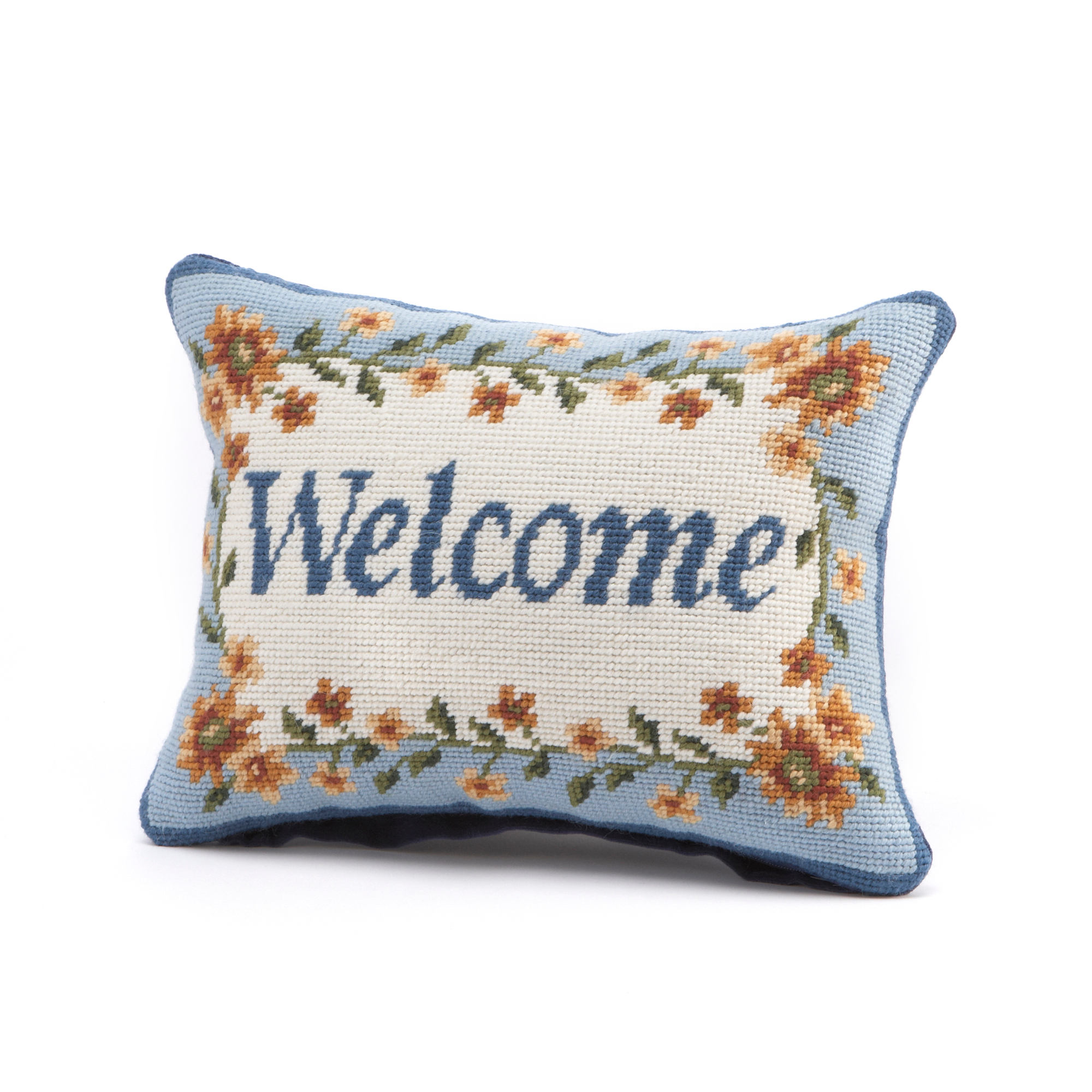 Welcome Needlepoint Pillow