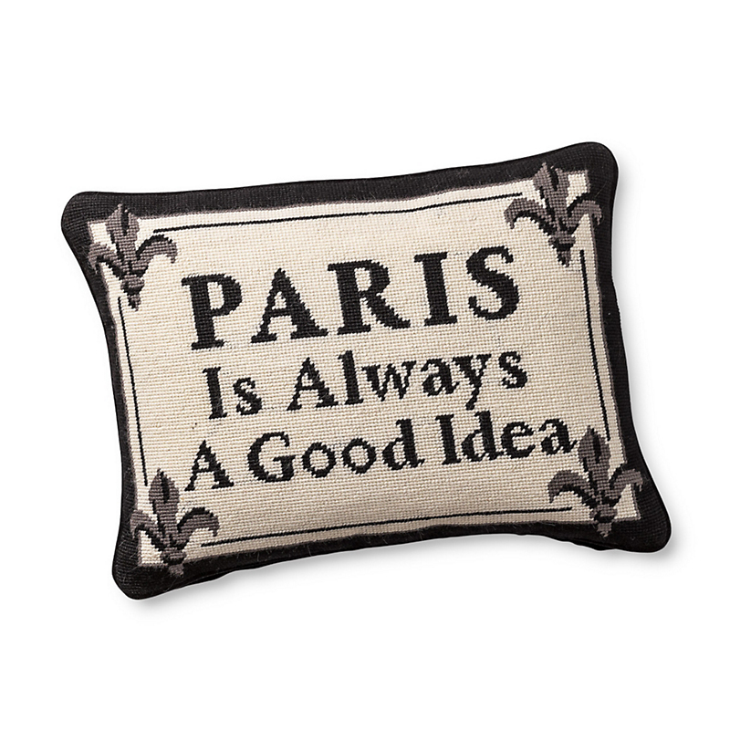 Paris Is Always A Good Idea Needlepoint Pillow