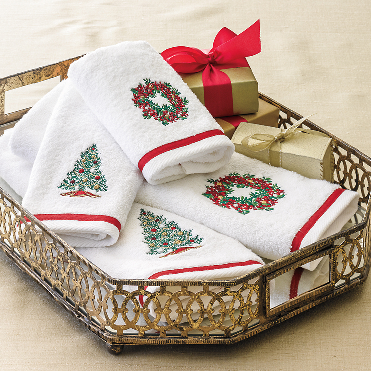 Holiday Guest Towels | Gump's