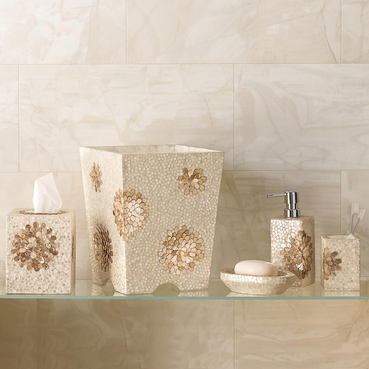 chrysanthemum capiz bath accessories gump 39 s