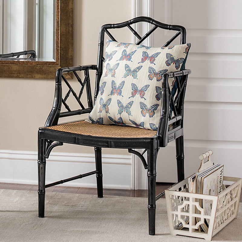 Black Grayson Armchair & Cushion