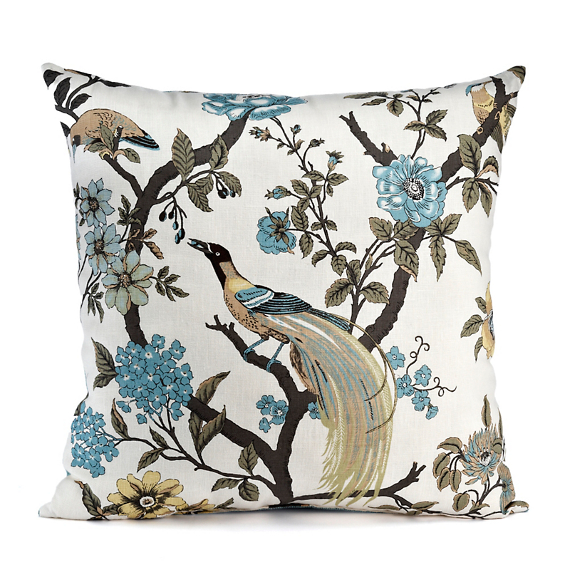 Botanical Chinoiserie Pillow