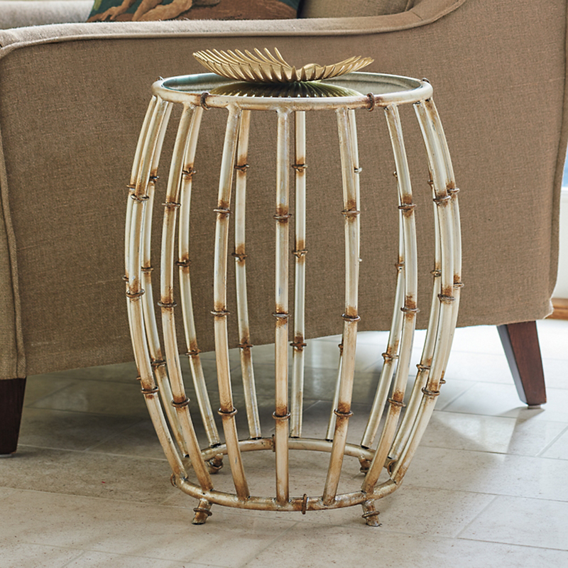 Antique Silver Bamboo Table