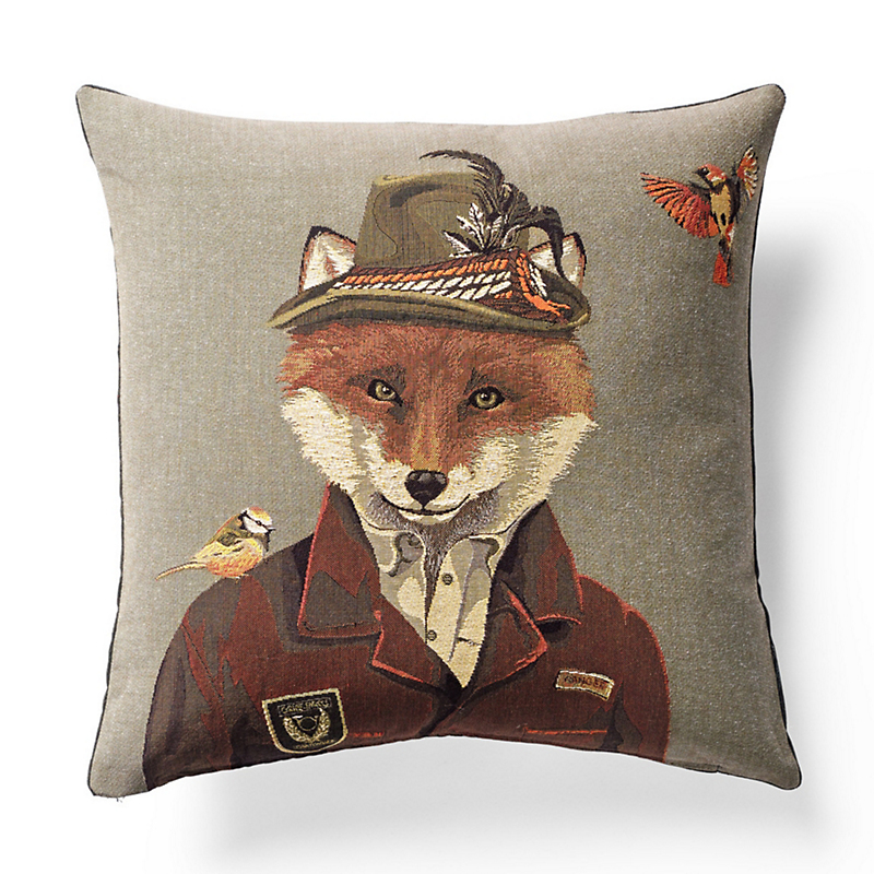Black Forest Hunter Fox Pillow
