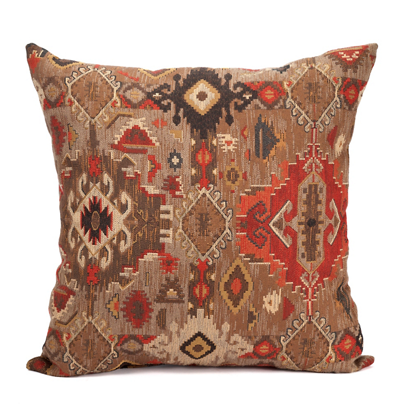 Black Forest Kilim Pattern Pillow
