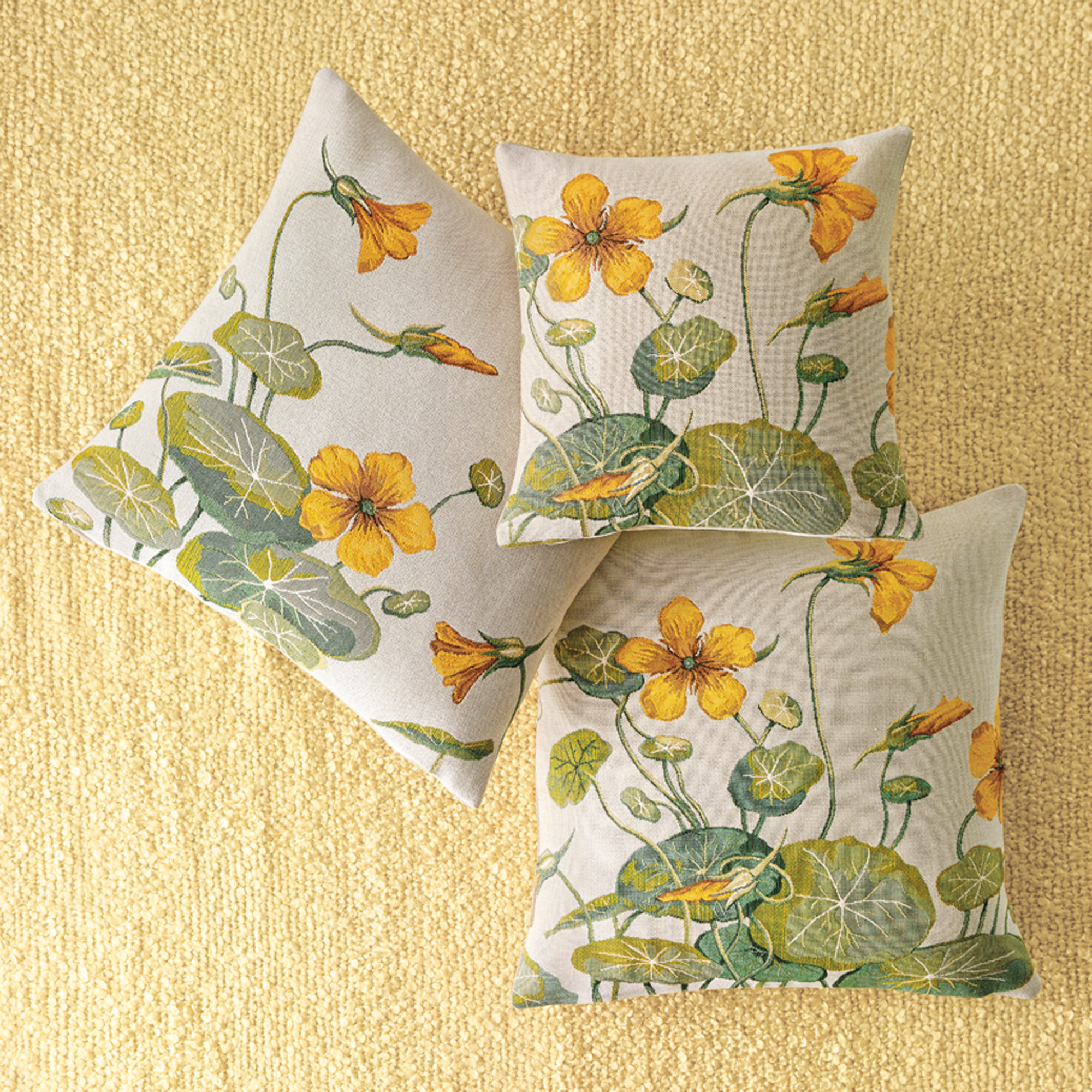 Nasturtium Tapestry Pillows
