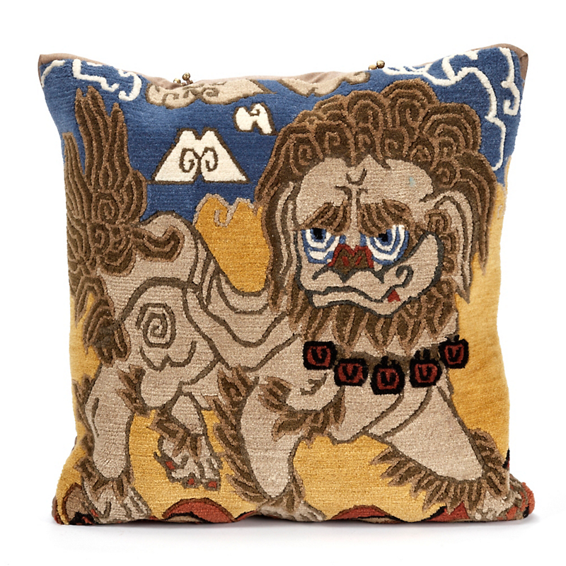 Tibetan Foo Dog Pillow
