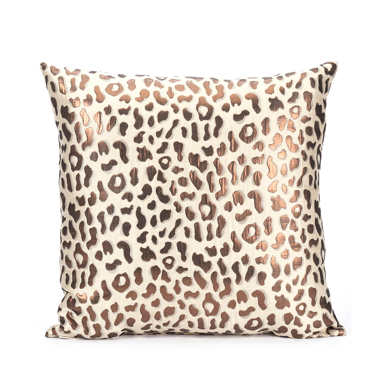 Metallic Cheetah Print Pillow