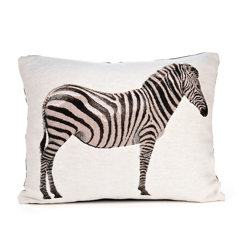 Tapestry Zebra Pillow