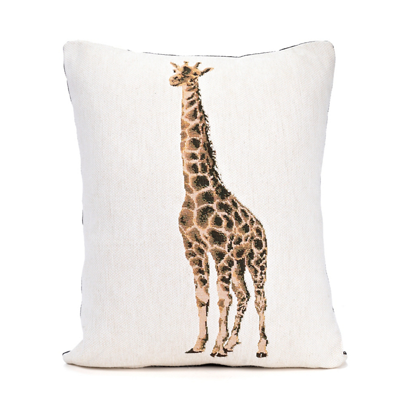 Tapestry Giraffe Pillow