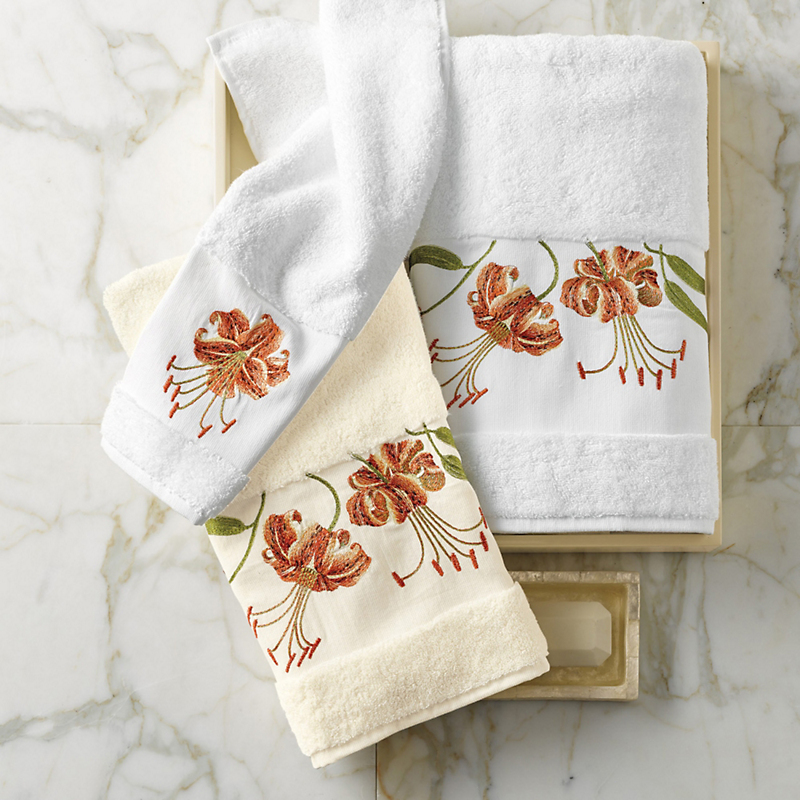 Tiger Lily Towels