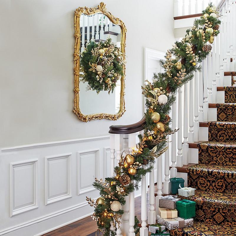 Pre Lit Southern Belle Christmas Garland Set Gump S