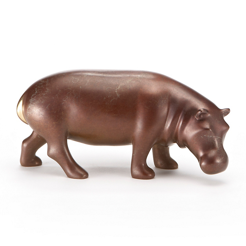 Loet Vanderveen Small Hippo In Silver Charcoal