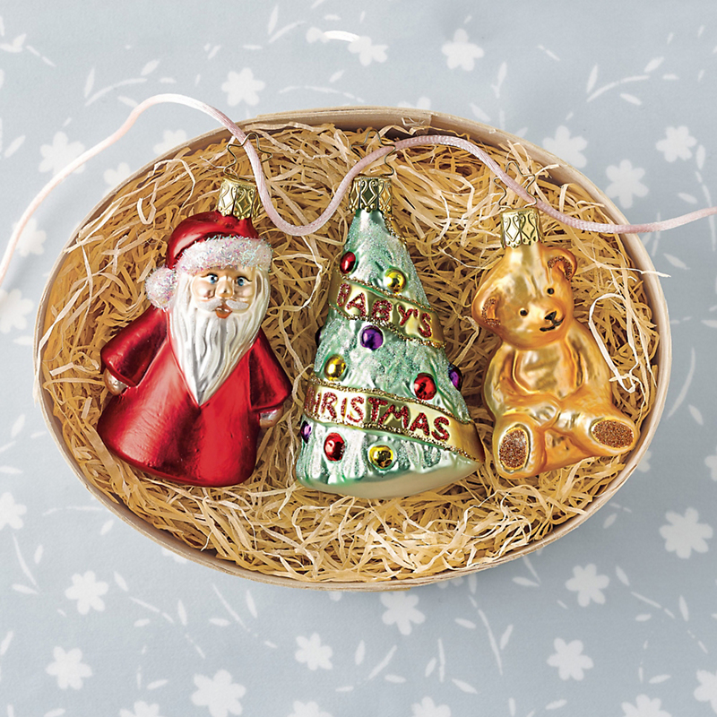Baby's First Christmas Christmas Ornament Set