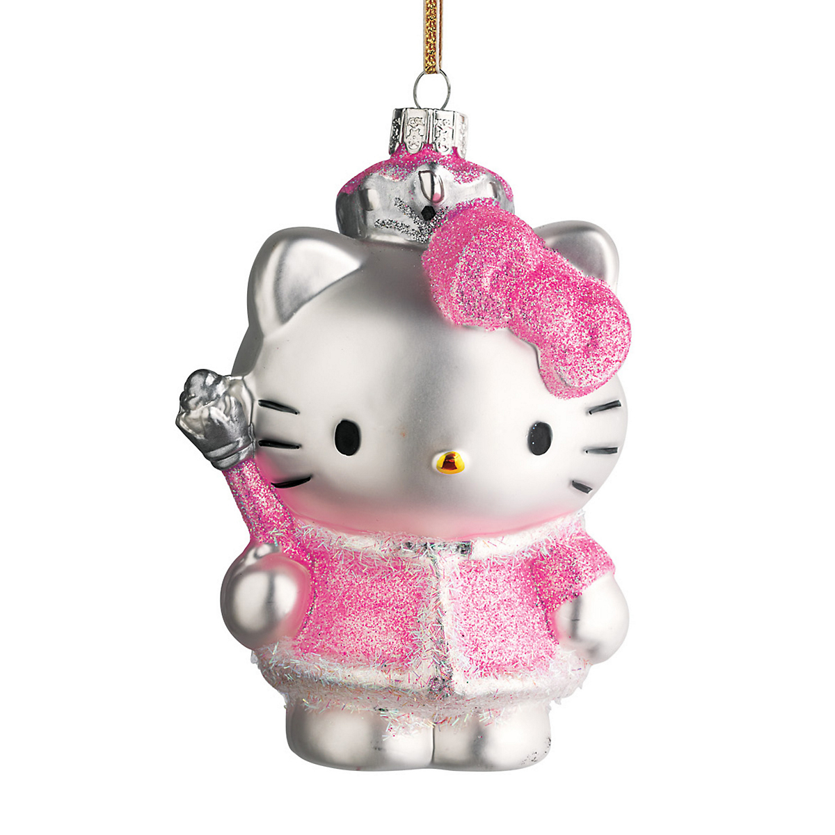 Hello kitty in pink dress christmas ornament gump s