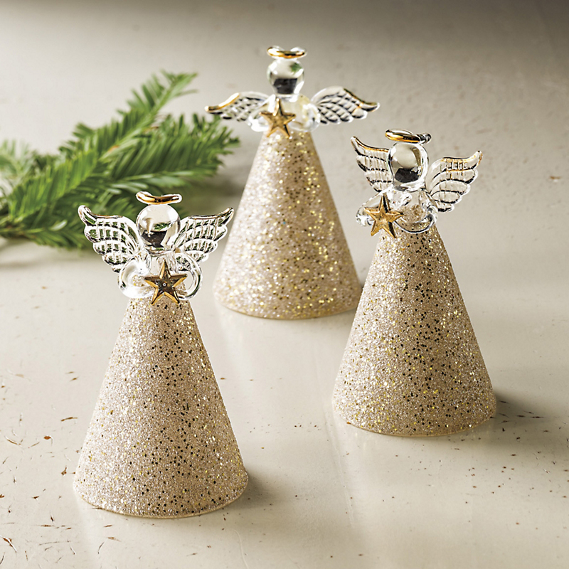 Shimmering Angel Christmas Ornaments