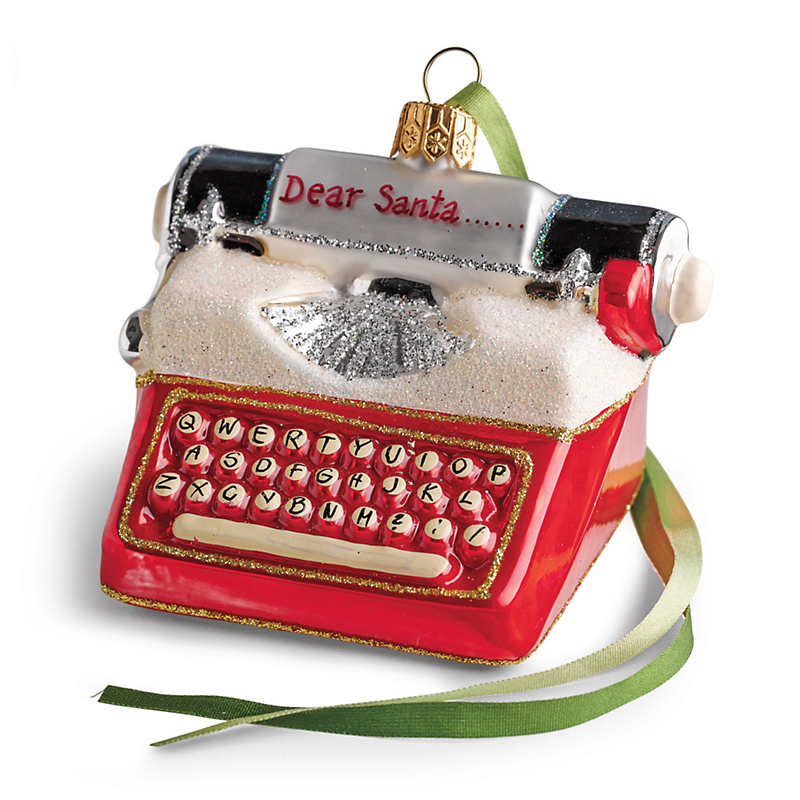 Dear Santa Typewriter Christmas Ornament