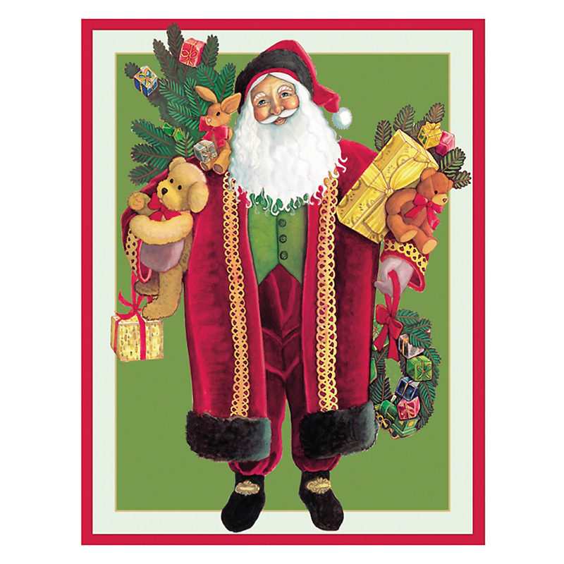 Caspari Personalized Santa Good Tidings Cards