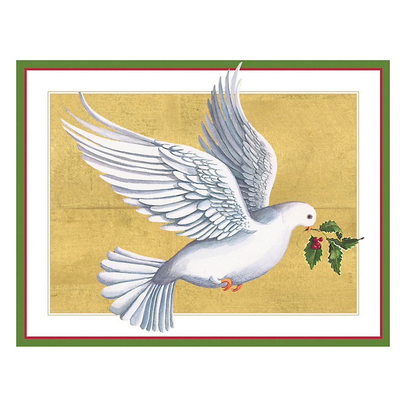 Caspari Personalized Peace Dove Cards