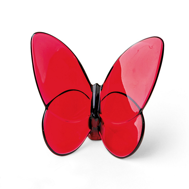 Baccarat Lucky Butterfly, Red