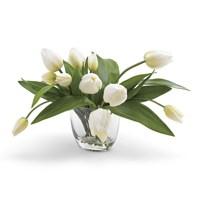 French White Tulip Arrangement