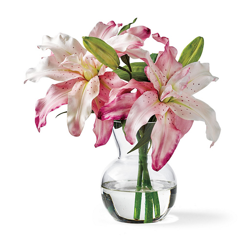 Lilies In Flared Vase