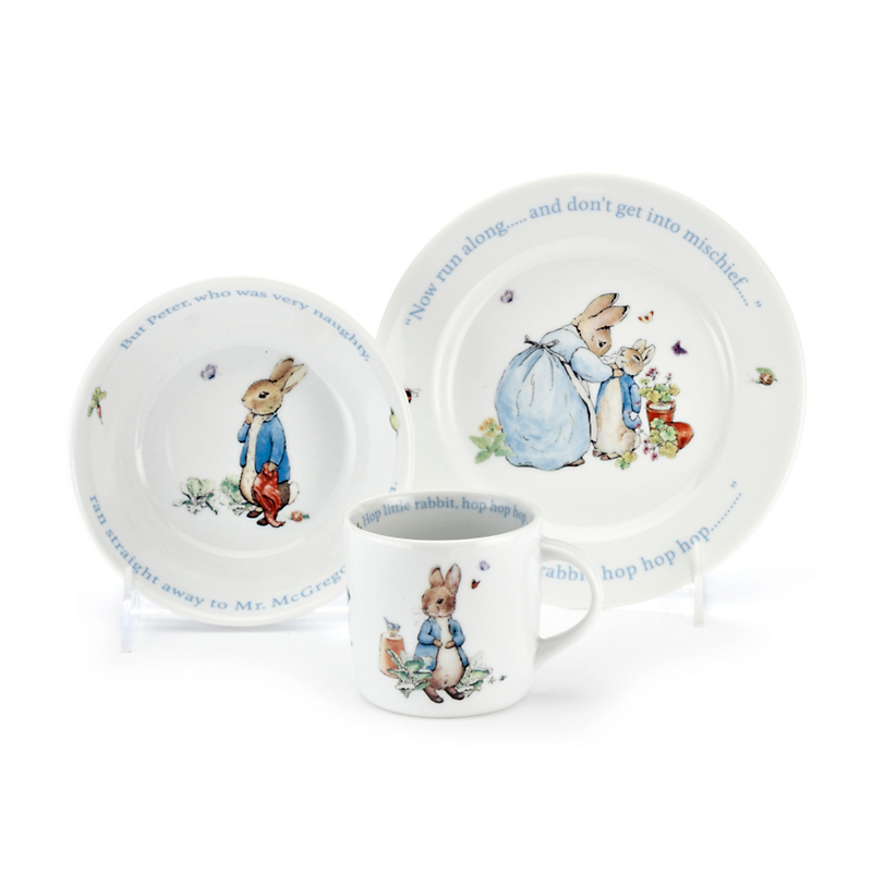 Wedgwood Peter Rabbit Children's Set, Blue