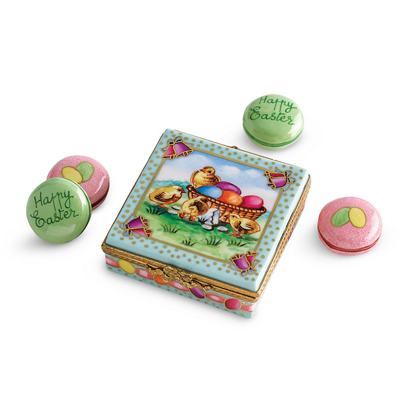 Limoges Easter Egg Box With Macarons
