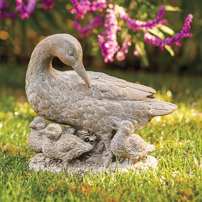 Duck Family Outdoor Statue