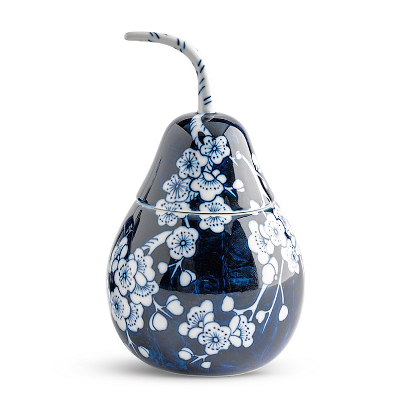 Blue & White Pear-Shaped Box