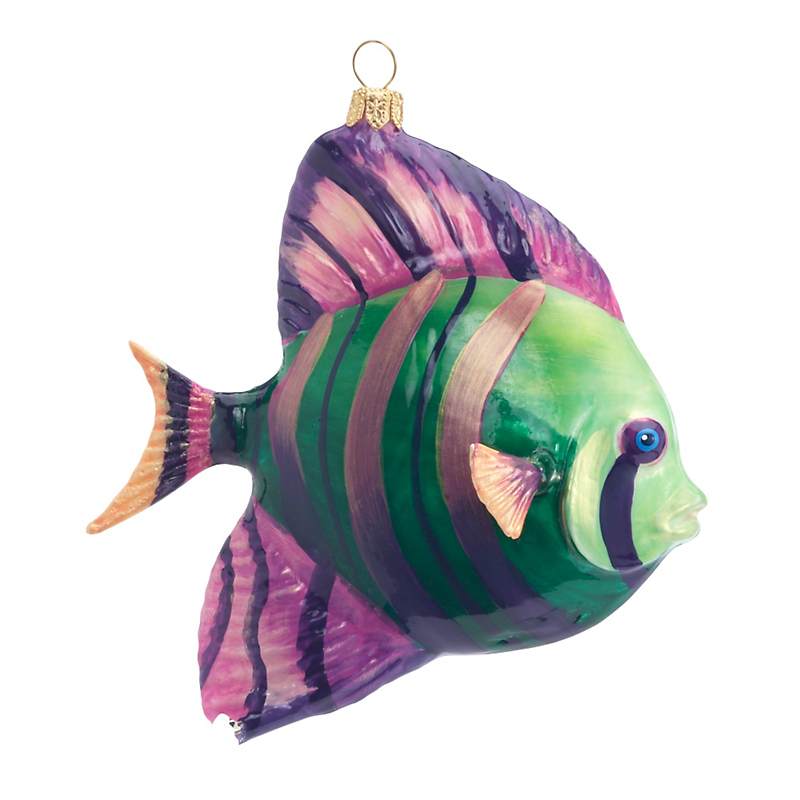 Striped Fish Christmas Ornament
