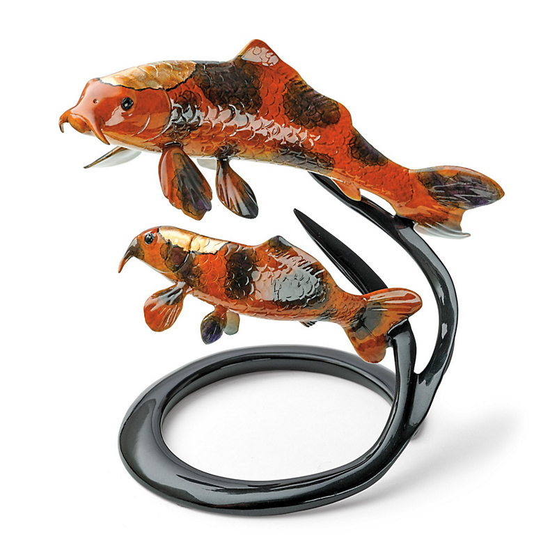 Two Koi Fish On A Reed