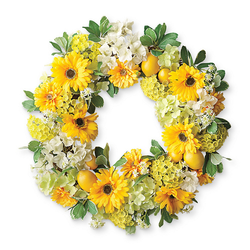Sunflower & Lemon Wreath