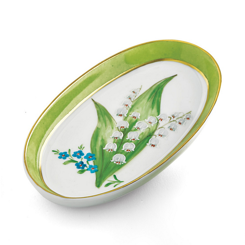 Limoges Lily Of The Valley Ring Dish
